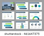 set of blue and green template... | Shutterstock .eps vector #461647375