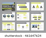 set of gray and green template... | Shutterstock .eps vector #461647624