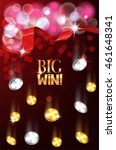 big win banner with red silk... | Shutterstock .eps vector #461648341