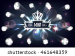 big win banner with falling... | Shutterstock .eps vector #461648359