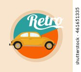 retro classic car poster... | Shutterstock .eps vector #461651335