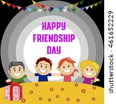 friendship day poster... | Shutterstock .eps vector #461652229