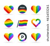set of lgbt symbols and... | Shutterstock .eps vector #461653261