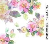 Watercolor Roses  Roses Hips...