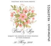 wedding invitation   Shutterstock .eps vector #461659021