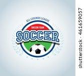 round football badge logo... | Shutterstock .eps vector #461659057