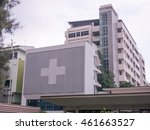Hospital Building With Big...