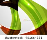 smooth wave line abstract... | Shutterstock . vector #461664331