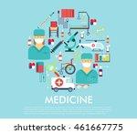 medical flat vector | Shutterstock .eps vector #461667775