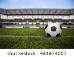 soccer ball with stadium on the ... | Shutterstock . vector #461674057