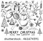 christmas sketch vector icon's...   Shutterstock .eps vector #461674591