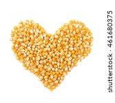 Heart Shape Made Of Corn...