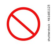 no sign symbol. vector on white ... | Shutterstock .eps vector #461681125