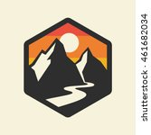 mountains vector icon. | Shutterstock .eps vector #461682034
