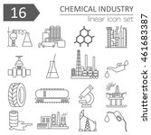 chemical industry icon set.... | Shutterstock .eps vector #461683387