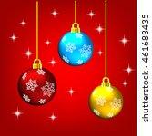 christmas ball | Shutterstock .eps vector #461683435