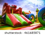 inside big  inflatable castle... | Shutterstock . vector #461685871