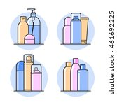 set of cosmetic icons on a... | Shutterstock .eps vector #461692225