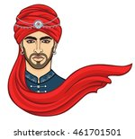 portrait of the young... | Shutterstock .eps vector #461701501