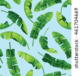 seamless pattern with banana... | Shutterstock .eps vector #461704669