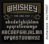 font whiskey typeface  vintage...   Shutterstock .eps vector #461709007