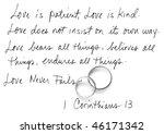 handwritten corinthians 13 | Shutterstock . vector #46171342
