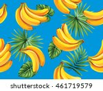 seamless pattern with tropical... | Shutterstock .eps vector #461719579