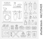 elements for laundry interior ... | Shutterstock .eps vector #461725435