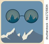 vector sunglasses with... | Shutterstock .eps vector #461725834