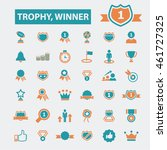 trophy winner icons | Shutterstock .eps vector #461727325