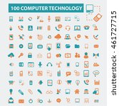 computer technology icons | Shutterstock .eps vector #461727715