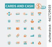 cards and cash icons | Shutterstock .eps vector #461729035