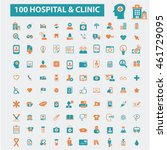 hospital clinic icons   Shutterstock .eps vector #461729095