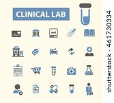 clinical lab icons | Shutterstock .eps vector #461730334