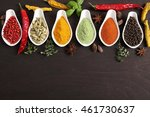 colorful  aromatic indian... | Shutterstock . vector #461730637