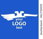eagle two heads vector logo.... | Shutterstock .eps vector #461732035