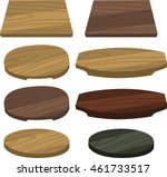 wooden tray. round tray ... | Shutterstock .eps vector #461733517