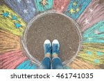 comfort zone concept. feet...   Shutterstock . vector #461741035