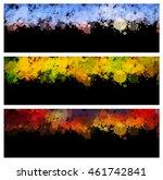 colorful splash set. creative... | Shutterstock .eps vector #461742841