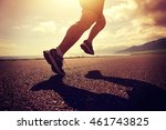 young fitness woman runner... | Shutterstock . vector #461743825