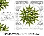 psychedelic marijuana cannabis... | Shutterstock .eps vector #461745169