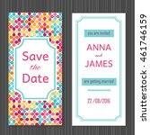 modern wedding invitation with...   Shutterstock .eps vector #461746159