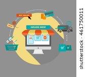 online shopping infographics. e ... | Shutterstock .eps vector #461750011