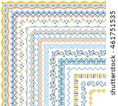 vector brushes collection in... | Shutterstock .eps vector #461751535