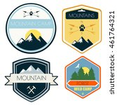 set of camping and outdoor... | Shutterstock .eps vector #461764321