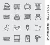 retro line icon | Shutterstock .eps vector #461764711