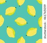 lemon background. seamless...   Shutterstock .eps vector #461765059