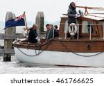 Small photo of Cillian Murphy, Jack Lowden, Christopher Nolan,Tom Glynn-Carney Filming for the World War II action thriller Dunkirk by Urk Netherlands July 2016