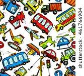 funny cars. kids seamless...   Shutterstock .eps vector #461766904