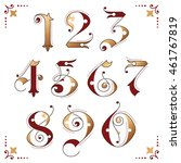 gothic numerals with bronze... | Shutterstock .eps vector #461767819